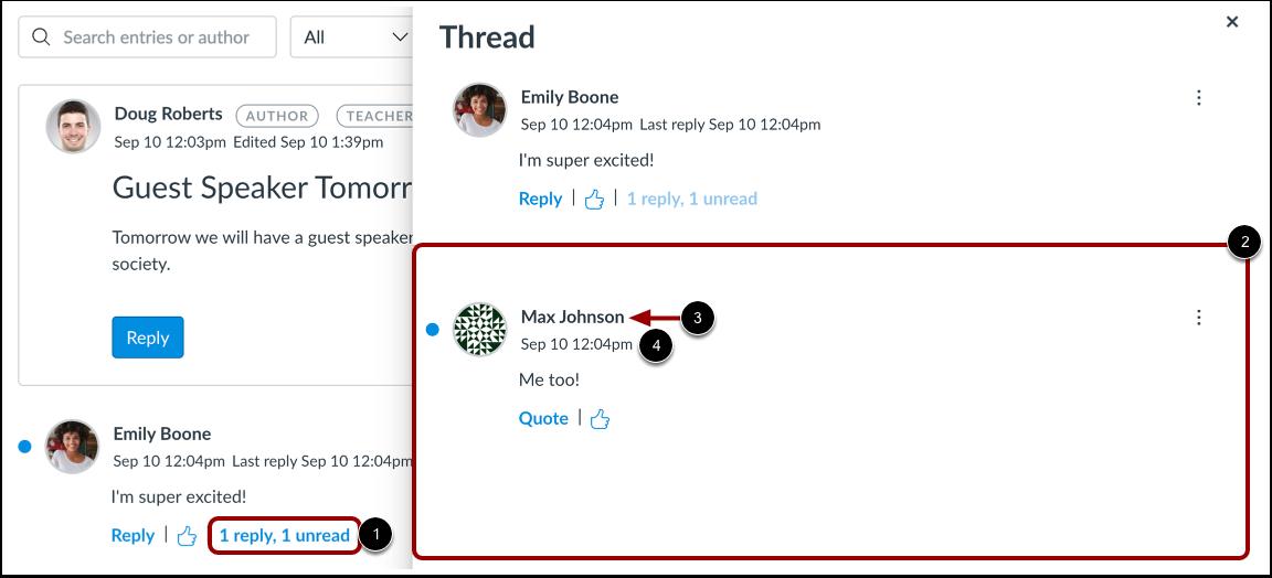 View Threaded Replies