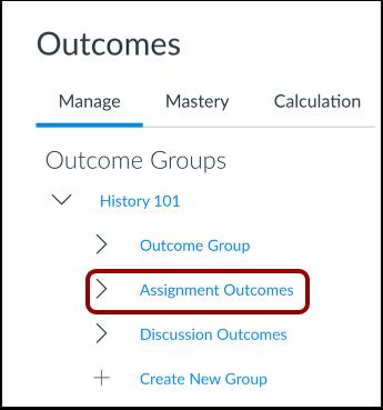 Select Outcome Group