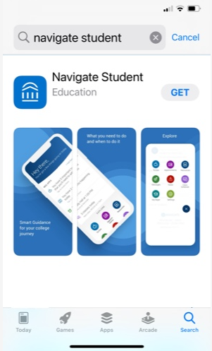 Navigate Student app