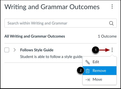 Remove Outcome