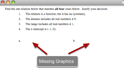1. Problem: While in Microsoft Word, no graphics appear!
