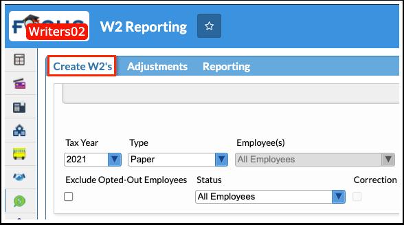 W2 Reporting