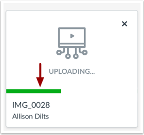 View Upload Progress