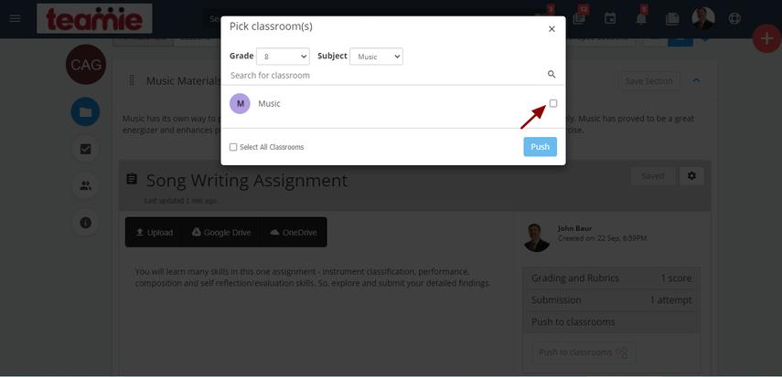 (24) Assignment - VCS | Teamie Next