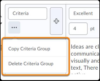 Criteria group