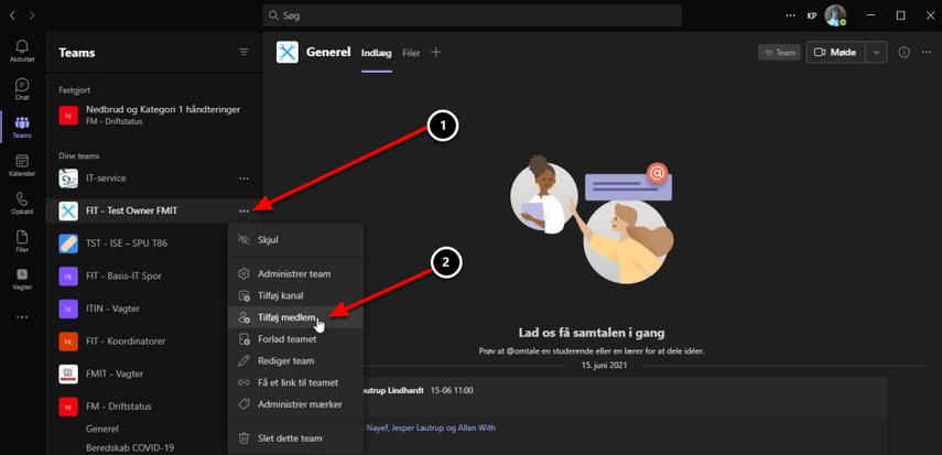 Generel (FIT - Test Owner FMIT)   Microsoft Teams