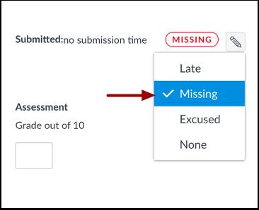 Select Missing Status
