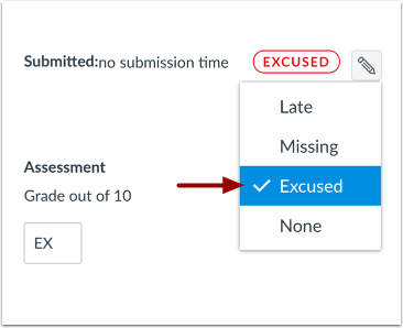 Select Excused Status
