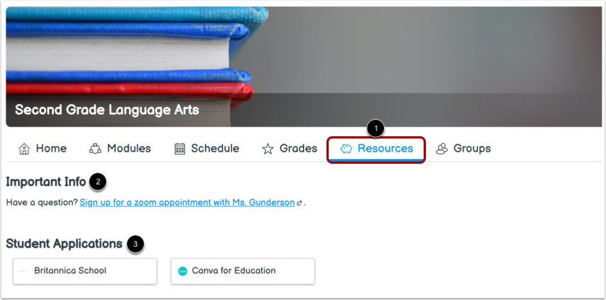 View Subject Resources