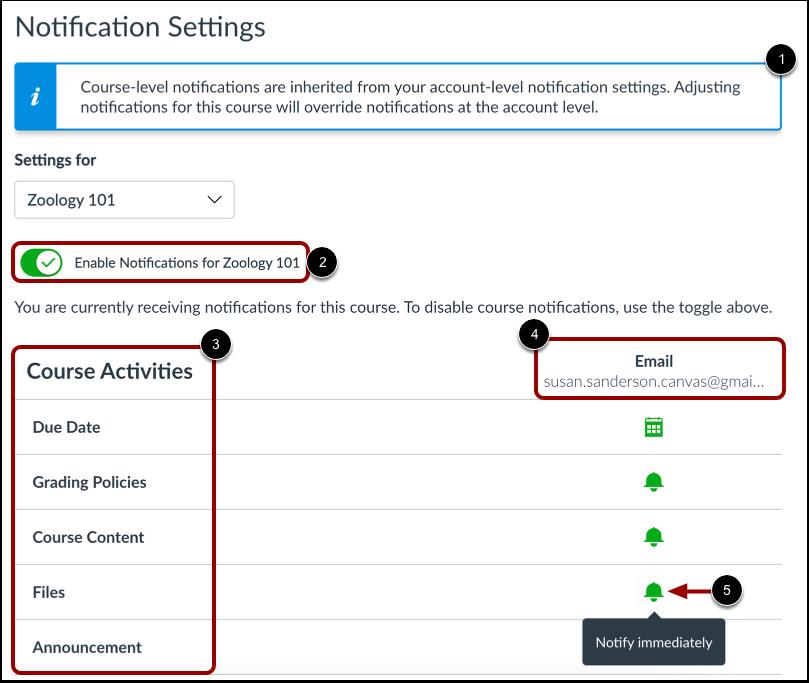 Manage Notification Settings