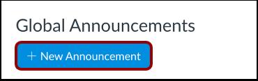 Add New Announcement