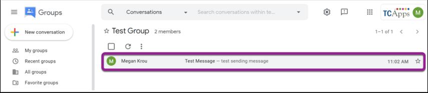 Test Group - Google Groups - Google Chrome