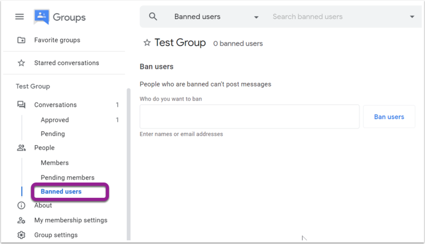 Banned users - Google Chrome