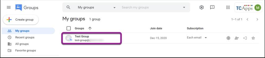 My groups - Google Chrome