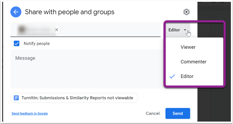 TurnItIn: Submissions & Similarity Reports not viewable - Google Docs - Google Chrome