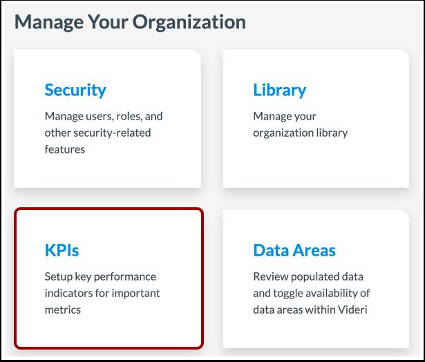 Open KPIs