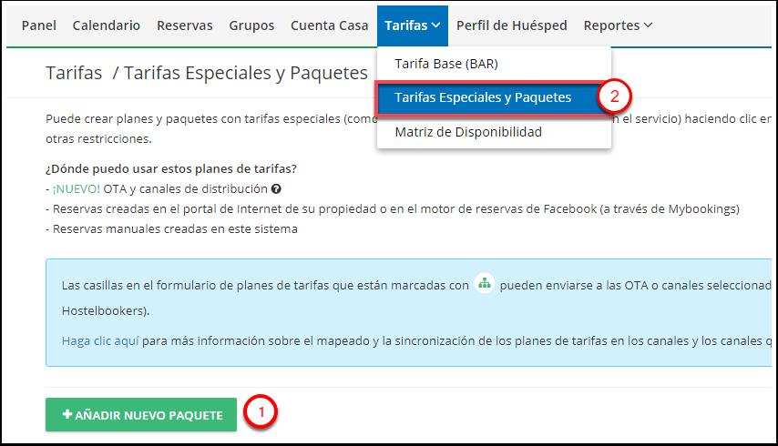 DEMO - El Bolsón - Tarifas Especiales y Paquetes - Google Chrome