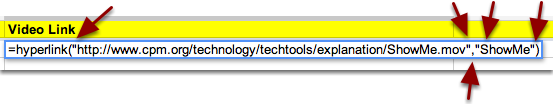 """2. Be sure the format looks like: =hyperlink(""""URL"""",""""text"""").  Then press Enter. See the example below."""