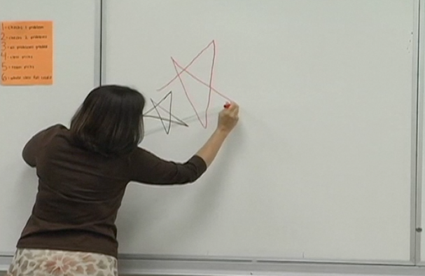 White board demonstration: