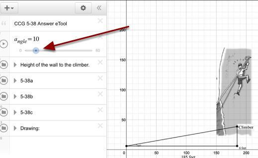 Move the slider for the various desired angles.
