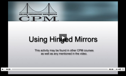 Ideas for using hinged mirrors in Lesson 1.1.5 are presented in this video.