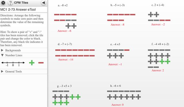 MC1 2-73 Answer eTool: Possible Answers