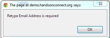 Volunteer Registration Error