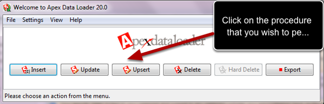 Logging In to the Apex Data Loader