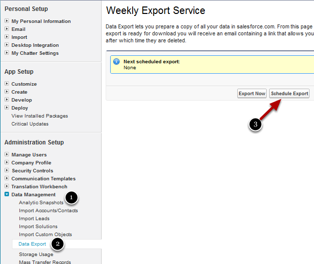 Archiving is available through an automated Weekly Export Service (WES)