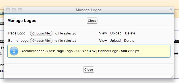 Manage Logos