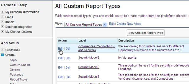 Edit your Custom Report Type