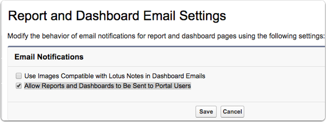 1. Make sure your system administrator has granted access to scheduled reports for portal users: