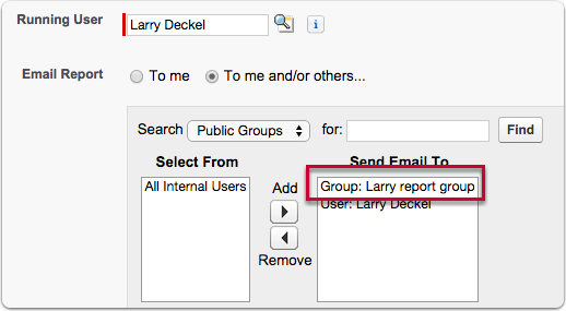 2. Create a public group of the customer portal users you wish to schedule the report to: