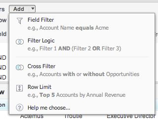 (Advanced) It's also possible to build more complex filter logic.