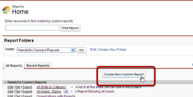 Navigate to the Reports Tab/Object
