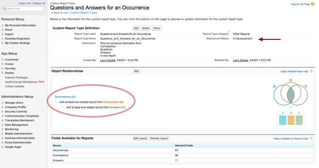 Defining the Custom Report Type