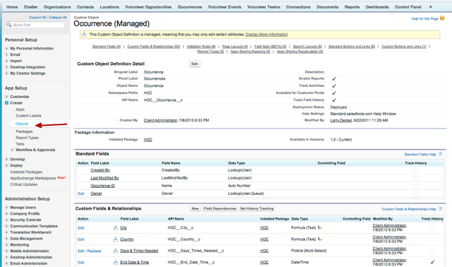 Part 3:  Adding a custom button to the occurrence record to provide easy access to the report.