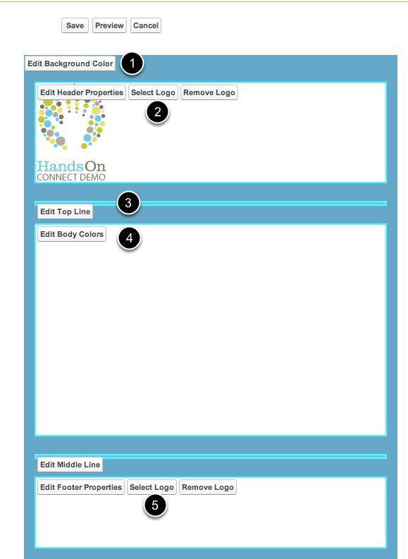Edit view of Letterhead Page