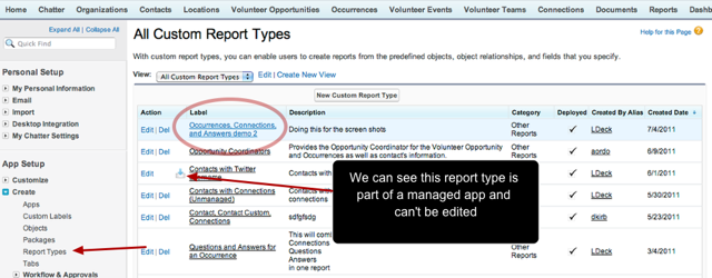 Edit the fields available to a report by going to Setup / App Setup / Create /