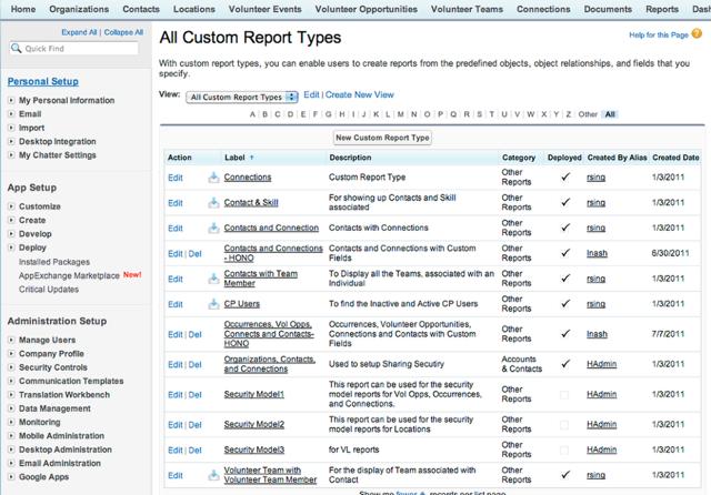 Go to setup / app setup / Create / Report Types
