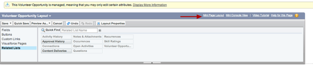 """To edit the fields that appear in the hover view -- click on """"Mini Page Layout"""" in the page layout bar"""