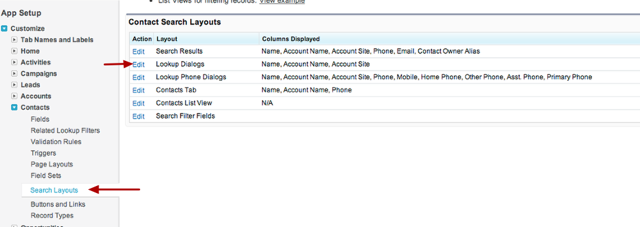 If I want more info to appear I need to edit the Search Layout for Lookup Dialogs for the Contact Record