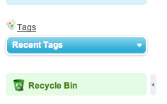 The Recycle Bin is at the bottom of the left sidebar on every page