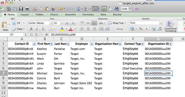 My revised spreadsheet looks like this: