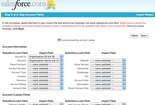 Step 5: Map Account Fields