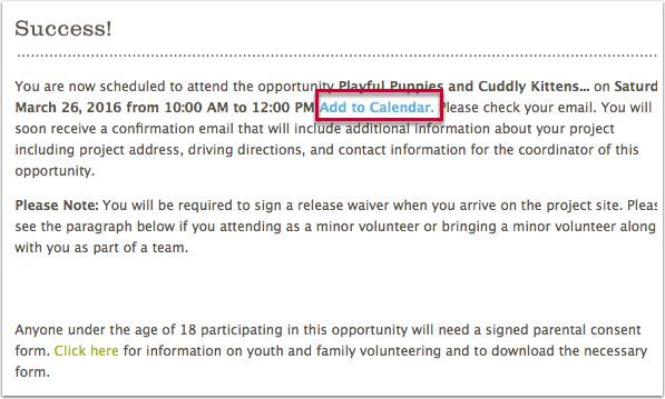 4.1 On the Success Page of full sign-up opportunities
