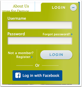 3. Improved Public Site Login Experience and Social Login with Facebook