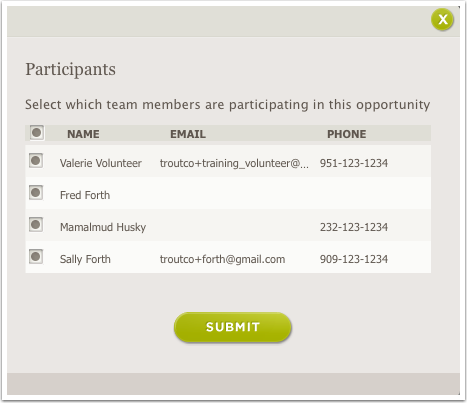 The Participants pop-up screen has clearer language