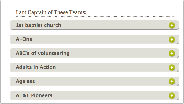 5.4 Team Names now appear in Alphabetical order on the teams page