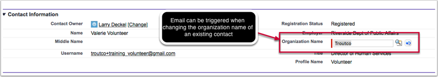 Fixed:  Inappropriate email sent when changing a contact's organization  (HOC-224)
